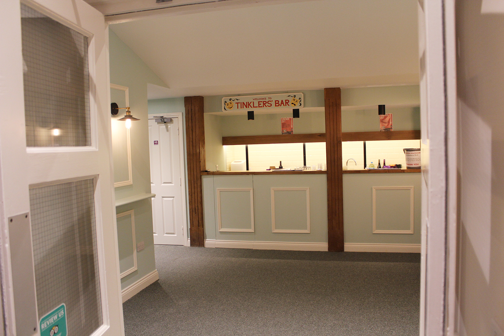 New foyer entrance at the Sleaford Playhouse