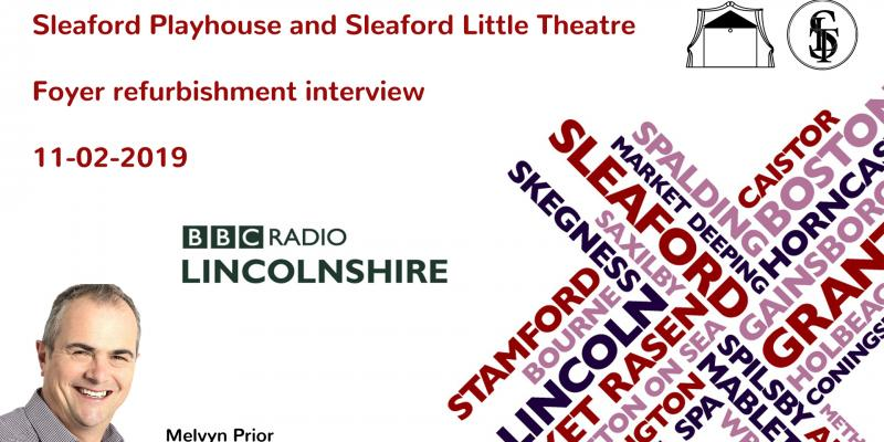 Foyer refurbishment interview on BBC Lincolnshire with Melvyn Prior