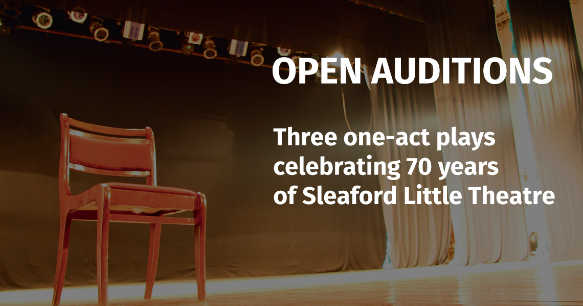 Open Auditions for SLT's three one-act plays in May 2020