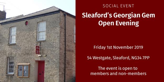 Sleaford's Georgian Gem open evening - Friday 1st November